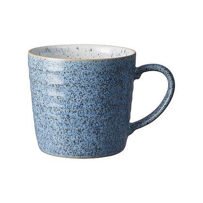 Denby Studio Blue Flint/Chalk Ridged  Mug