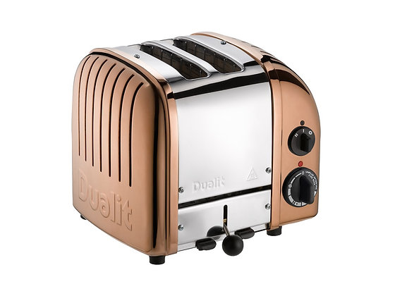 Dualit Two Slice Classic Toaster Copper  27450 three quarter view