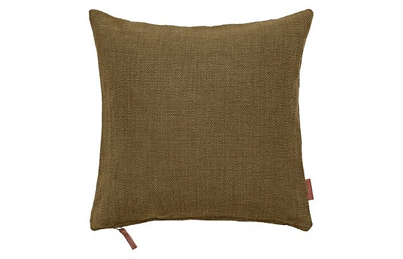 Feather Filled Hand Woven Cotton Cushion-Dijon