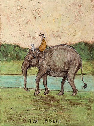 Canvas Art - Sam Toft 'Two Riders'