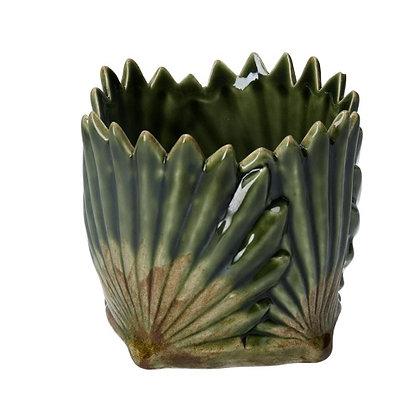 Gisela Graham Green Leaf 9.5cm Pot Cover