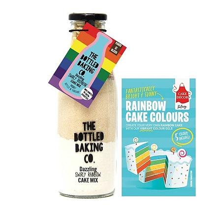 Bottled Baking  - Swirly Rainbow Cake Mix