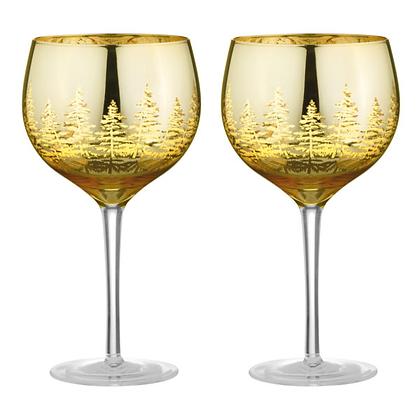 DRH Alpine Set of 2 Gin Glasses - Gold