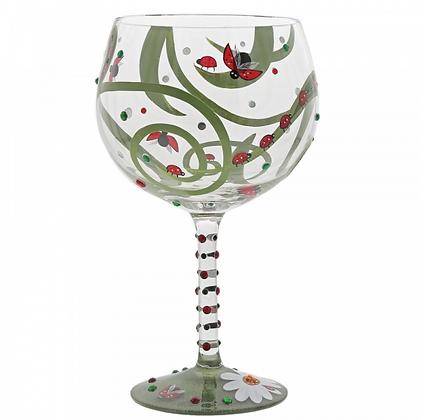 Lolita Gin Glass - Ladybug