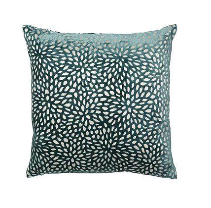 Malini Wilder Feather Cushion - Teal