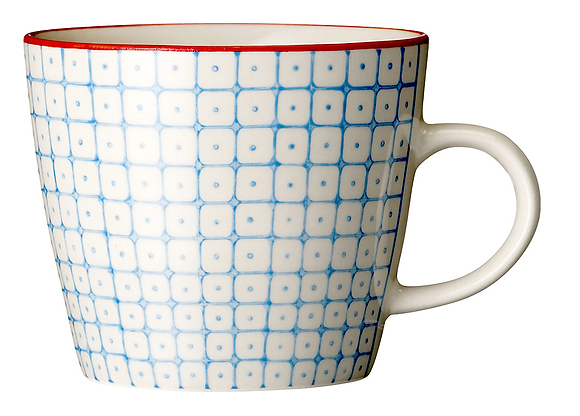 Bloomingville Carla Mug - Blue and Red