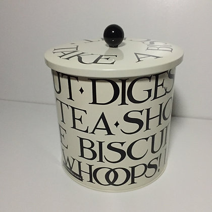 Elite Tins Emma Bridgewater Black Toast  Biscuit Barrel