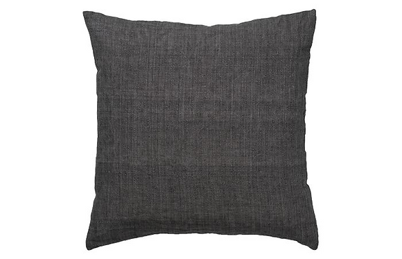 Feather Filled Hand Woven Cotton Cushion - Coal