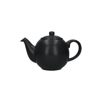 London Pottery 2 Cup Globe Teapot - Matt Black