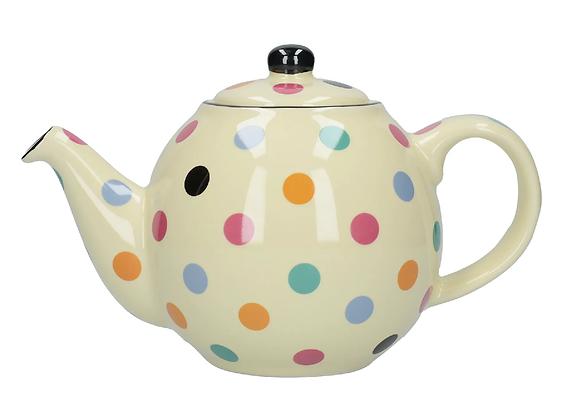 London Pottery 2 Cup Globe Teapot - Ivory Spot