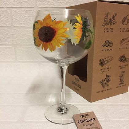 Ginology Gin Copa Glass - Sunflowers