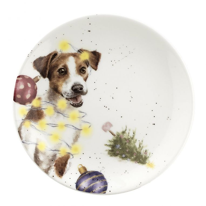 Royal Worcester Wrendale 16.5cm Plate - Jack Russell