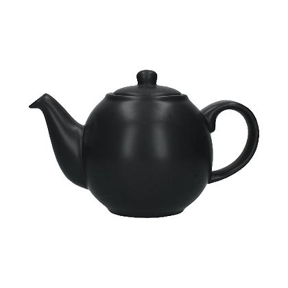 London Pottery 6 Cup Globe Teapot - Matt Black