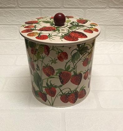 "Elite Tins Emma Bridgewater ""Strawberries"" Biscuit Barrel"
