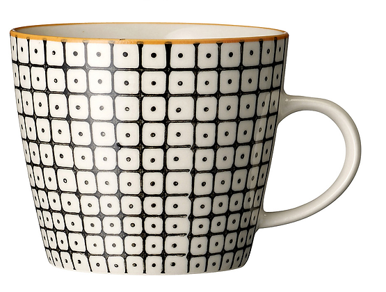 Bloomingville Carla Mug - Black and Orange