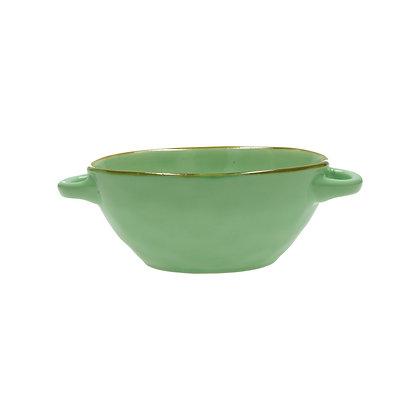 Rose & Tulipani Concerto Handled Soup Bowl - Turquoise