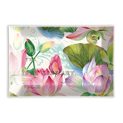 Michel Designs Glass Soap Dish - Water Lillies