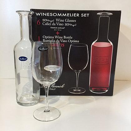Luigi Bormioli Winesommelier Wine Glasses & Carafe Set