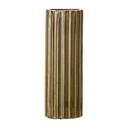 Bloomingville Green Stoneware Column Vase