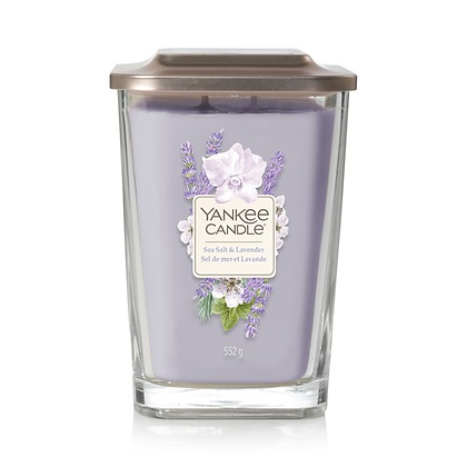 Yankee Candle Elevation 2 Wick Candle - Lavender and Sea Salt