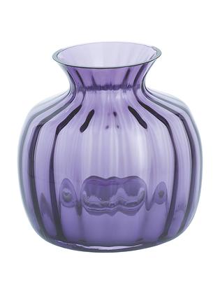 Dartington Crystal Small Cushion Vase - Amethyst