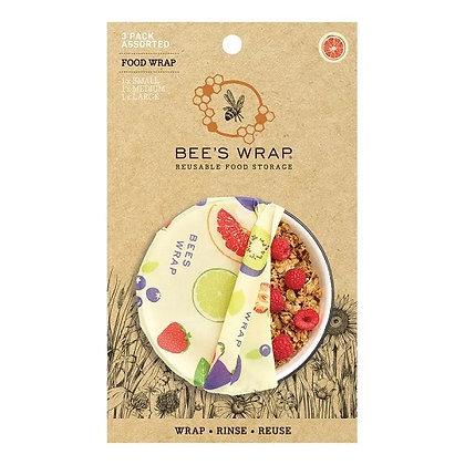 Eddingtons Bee's Wrap Wax Food Wrap - Fresh Fruit Pack of 3