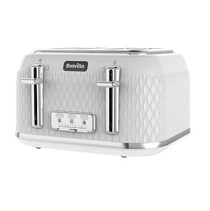 Breville Curve 4 Slice Toaster - White & Chrome
