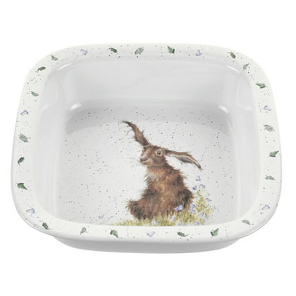Royal Worcester Wrendale Square Pie Dish 10'' - Hare