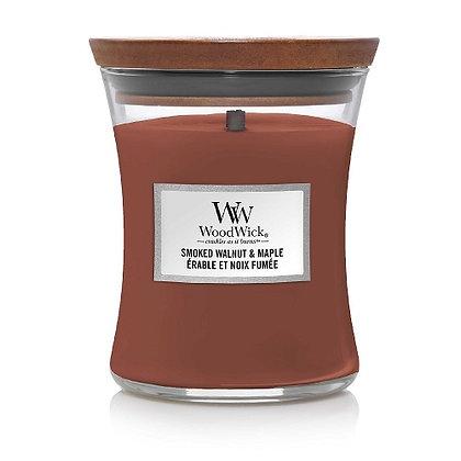 Woodwick Medium Candle - Smoked Walnut & Maple