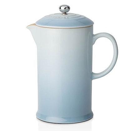 Le Creuset Stoneware Coffee Pot and Press Coastal Blue
