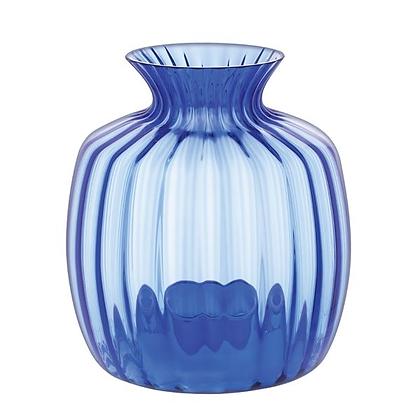Dartington Crystal Large Cushion Vase - Cobalt