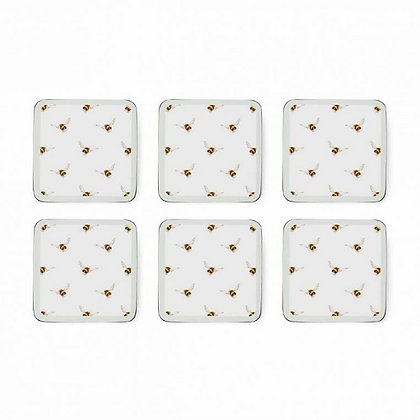 Pimpernel Wrendale Designs Set of 6 Bee Coasters