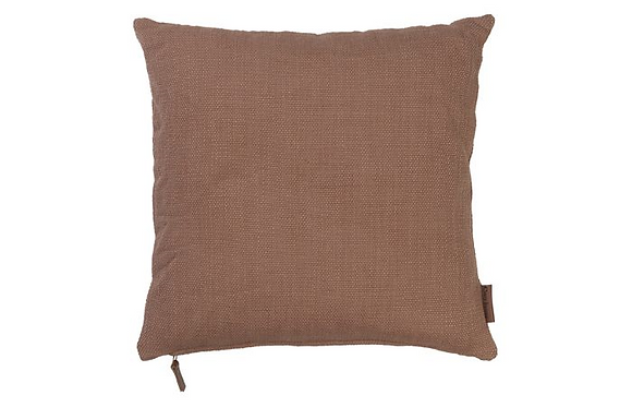 Feather Filled Hand Woven Cotton Cushion - Rouge
