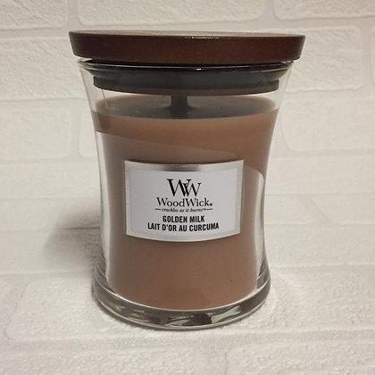 Woodwick Medium Candle - Golden Milk