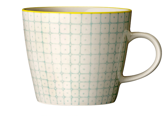Bloomingville Carla Mug - Duck Egg and Yellow
