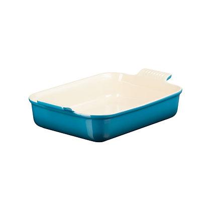 Le Creuset 32cm Stoneware Rectangular Dish - Deep Teal