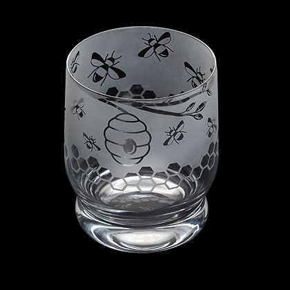 Dartington Aspect Bees Glass Tumbler