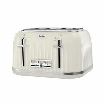 Breville Impressions 4 Slice Toaster, Cream