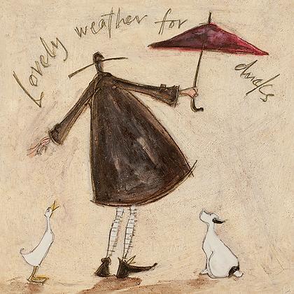 Canvas Art - Sam Toft 'Lovely Weather for Ducks'