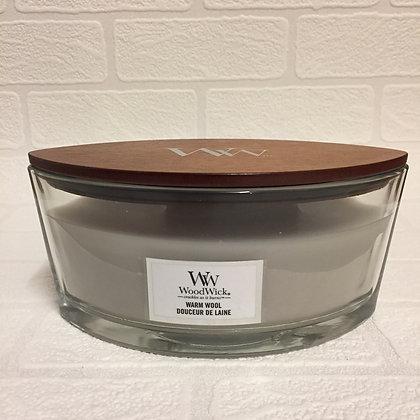 Woodwick Ellipse Candle - Warm Wool