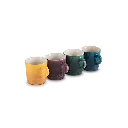Le Creuset Stoneware Botanique Set of 4 Cappuccino Mugs