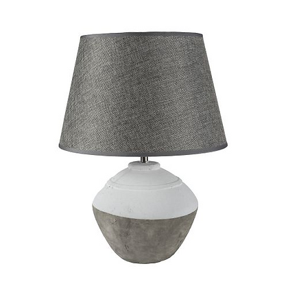 Stoneware Table Lamp Cali With Grey Shade