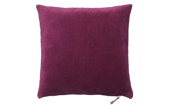 Feather Filled Velvet Cushion-Boysenberry