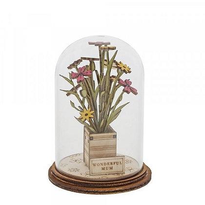 Kloche Ornament - Wonderful Mum Flowers