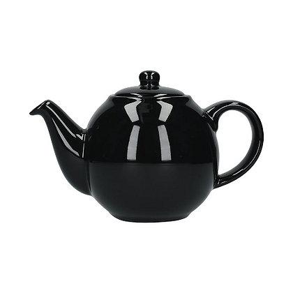 London Pottery 6 Cup Globe Teapot - Gloss Black