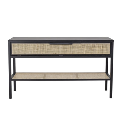 Bloomingville Alona Black Pine Console Table