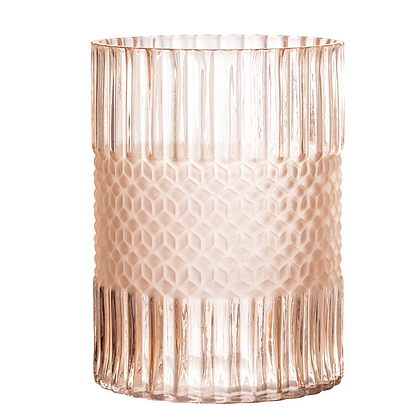 Bloomingville Rose Textured Glass Vase