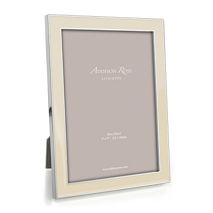 Addison Ross 5x7 Photo Frame - Vanilla and Silver