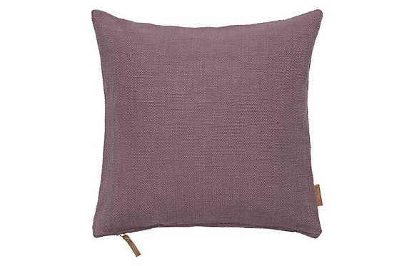 Feather Filled Hand Woven Cotton Cushion - Lavender