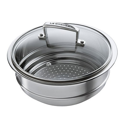 Le Creuset 3-Ply 20cm Multi- Steamer with a Glass Lid